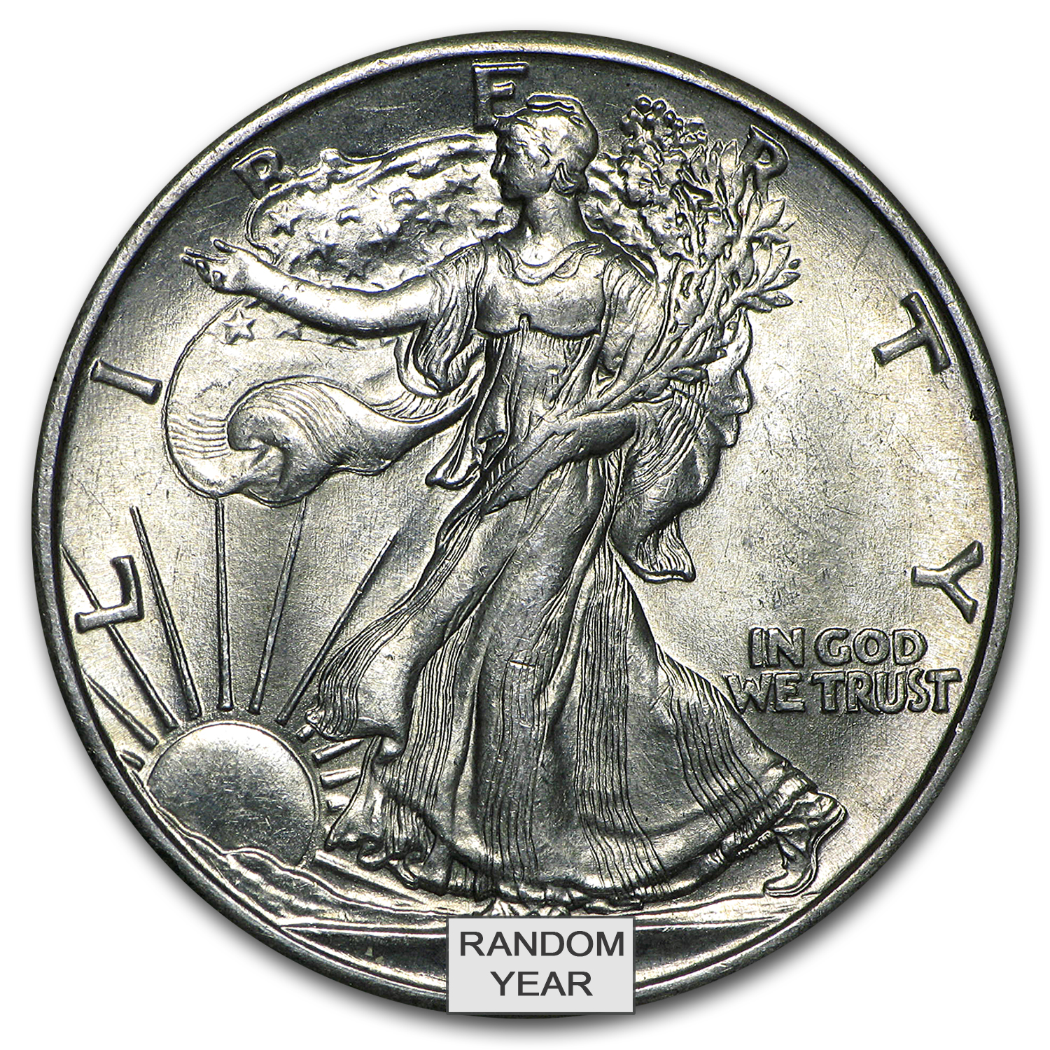 Walking Liberty Silver Half Dollar BU