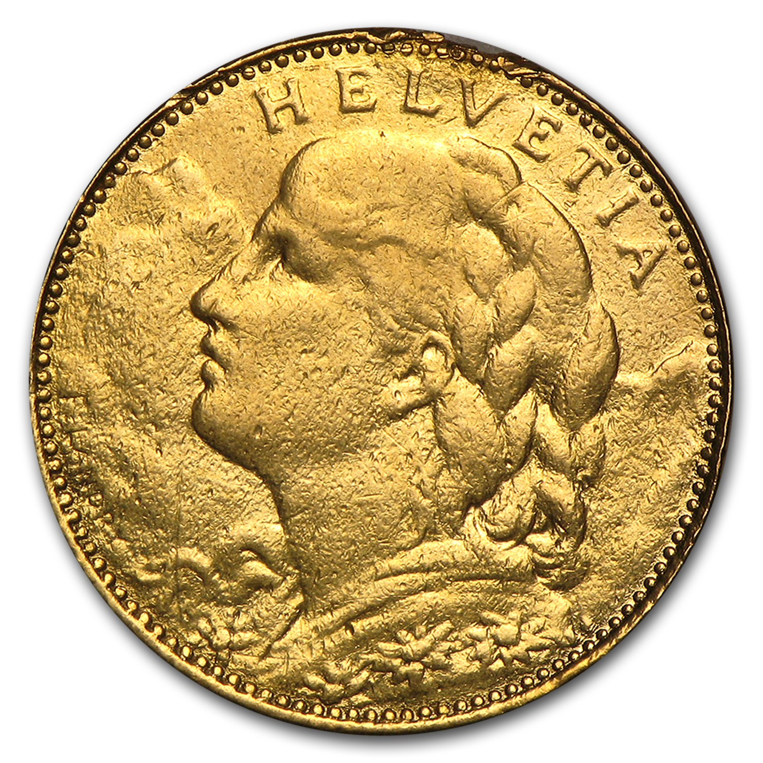 1911-1922 Switzerland Gold 10 Francs Average Circ (Random)