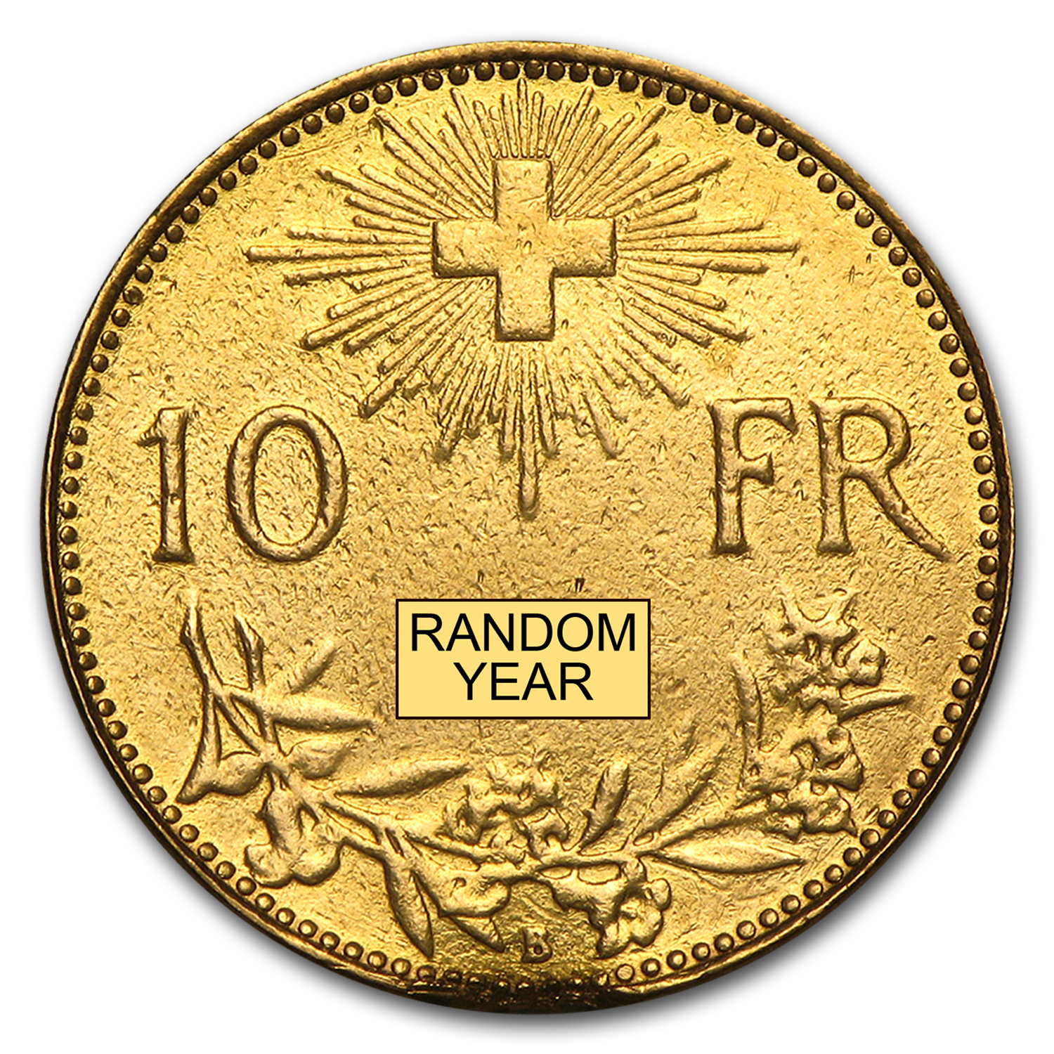 1911-1922 Switzerland Gold 10 Francs Average Circ