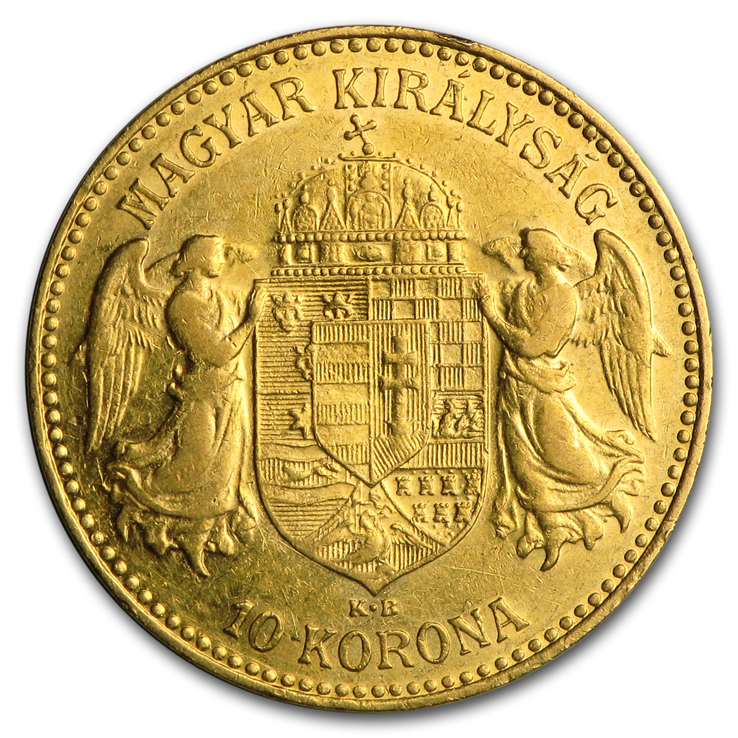 Hungary Gold 10 Korona Average Circ