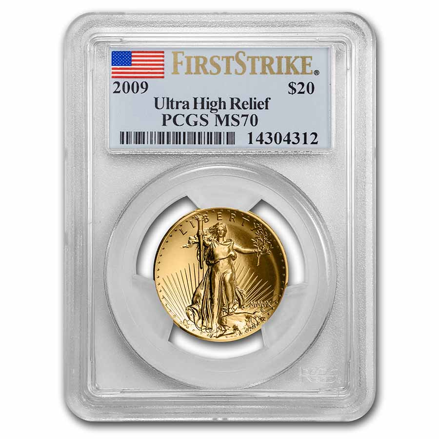 2009 Ultra High Relief Double Eagle MS-70 PCGS (First Strike)