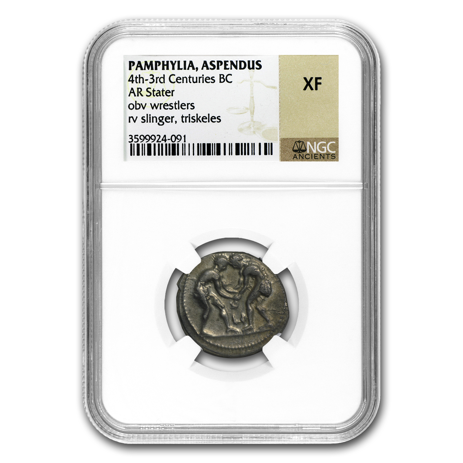 Pamphylia Aspendus AR Stater (4th-3rd Cent. BC) XF NGC