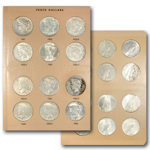 1921-1935 Peace Dollar 23-Coin Set (Dansco Album)