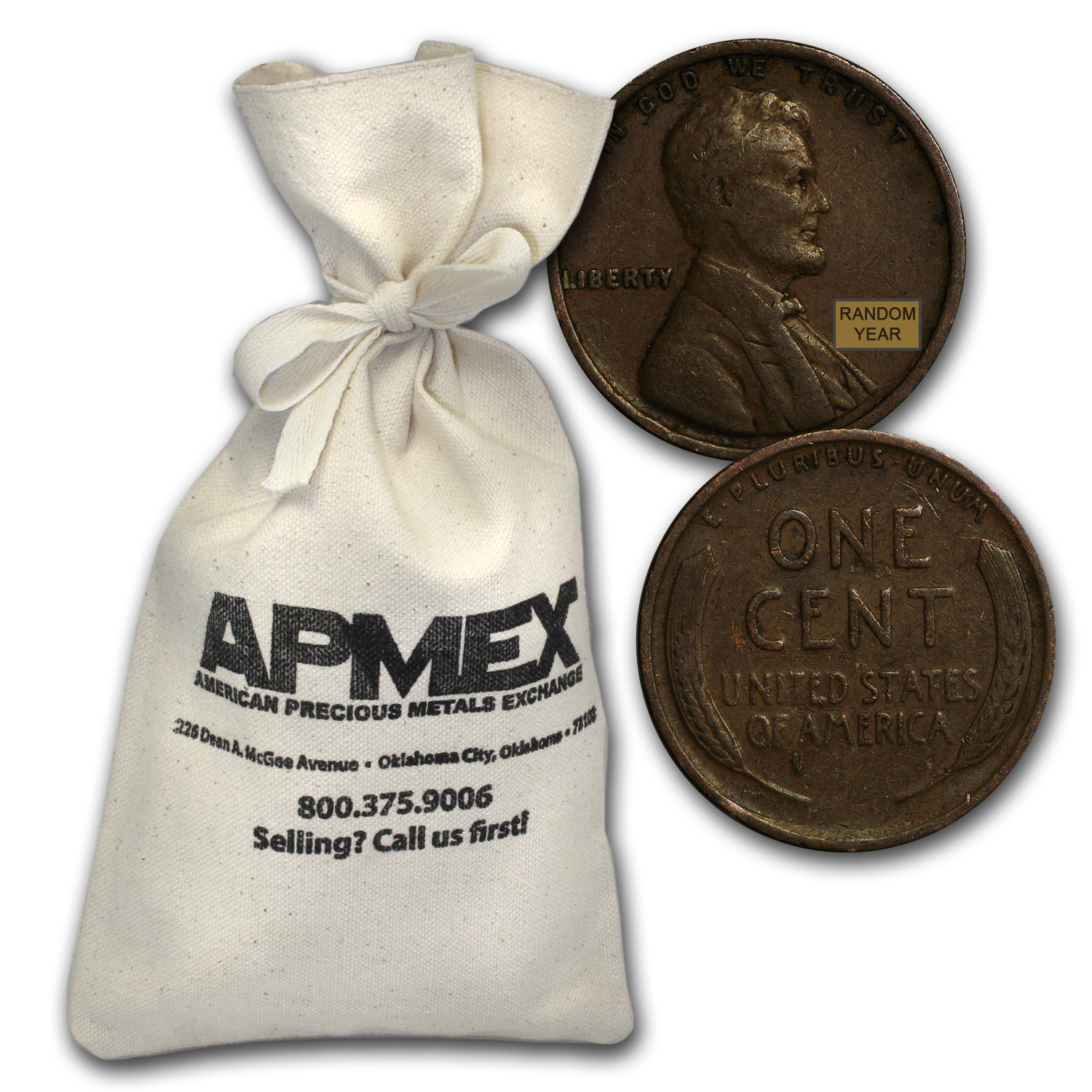 1909-1919 Wheat Cent 1,000 Count Bags