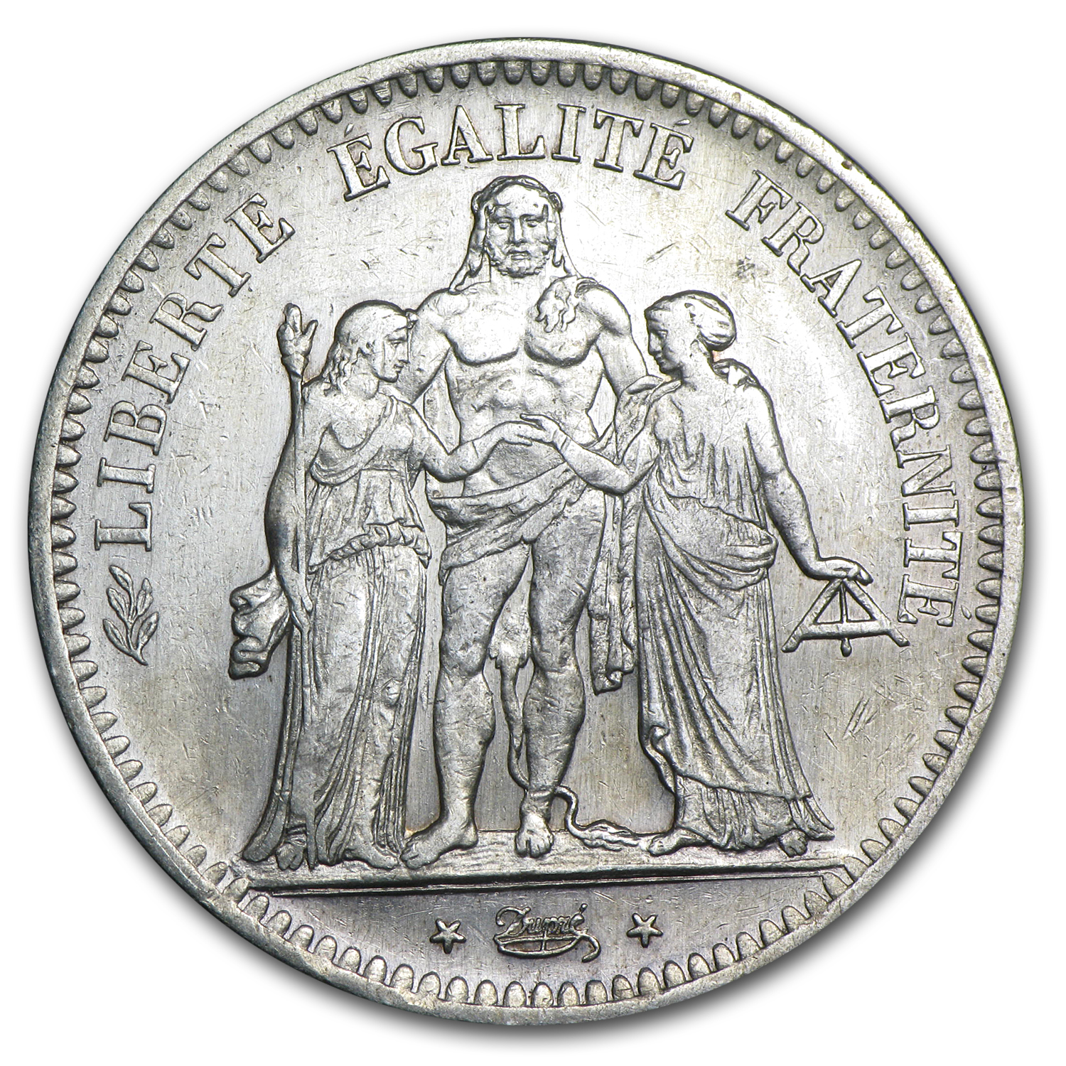 France 1848 5 Francs Hercules EF