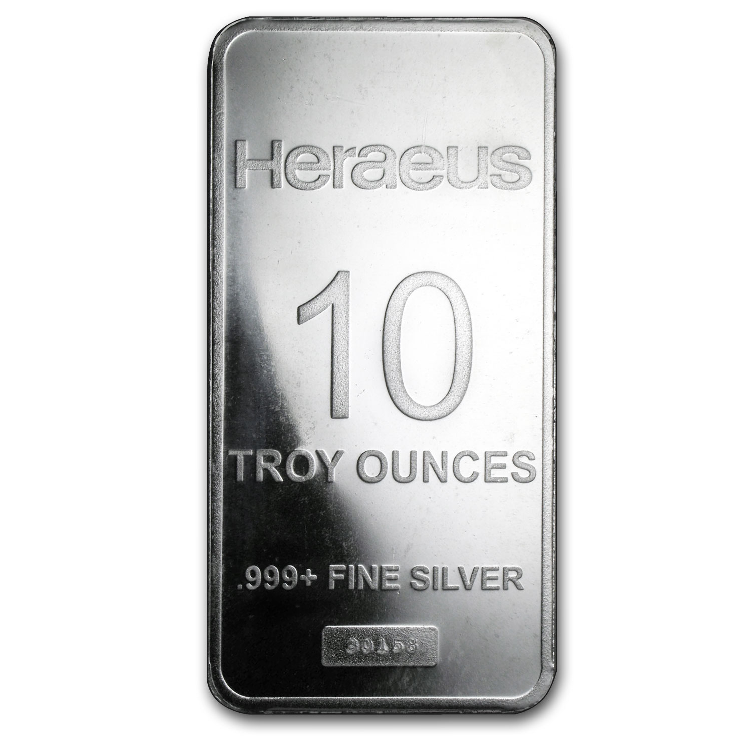 10 oz Silver Bar - Heraeus (Pressed)