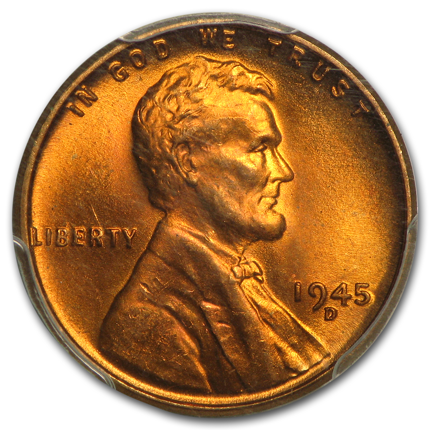 1945-D Lincoln Cent MS-66 PCGS (Red)