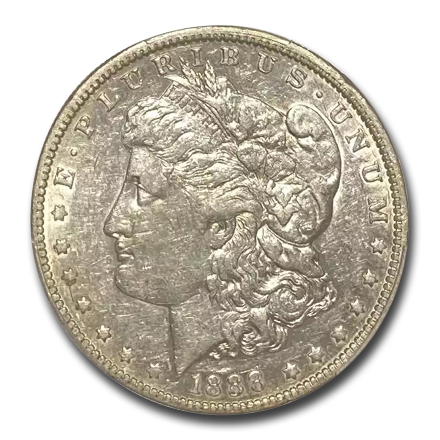 1888-O Morgan Dollar XF-45 PCGS (VAM-4, Hot Lips)