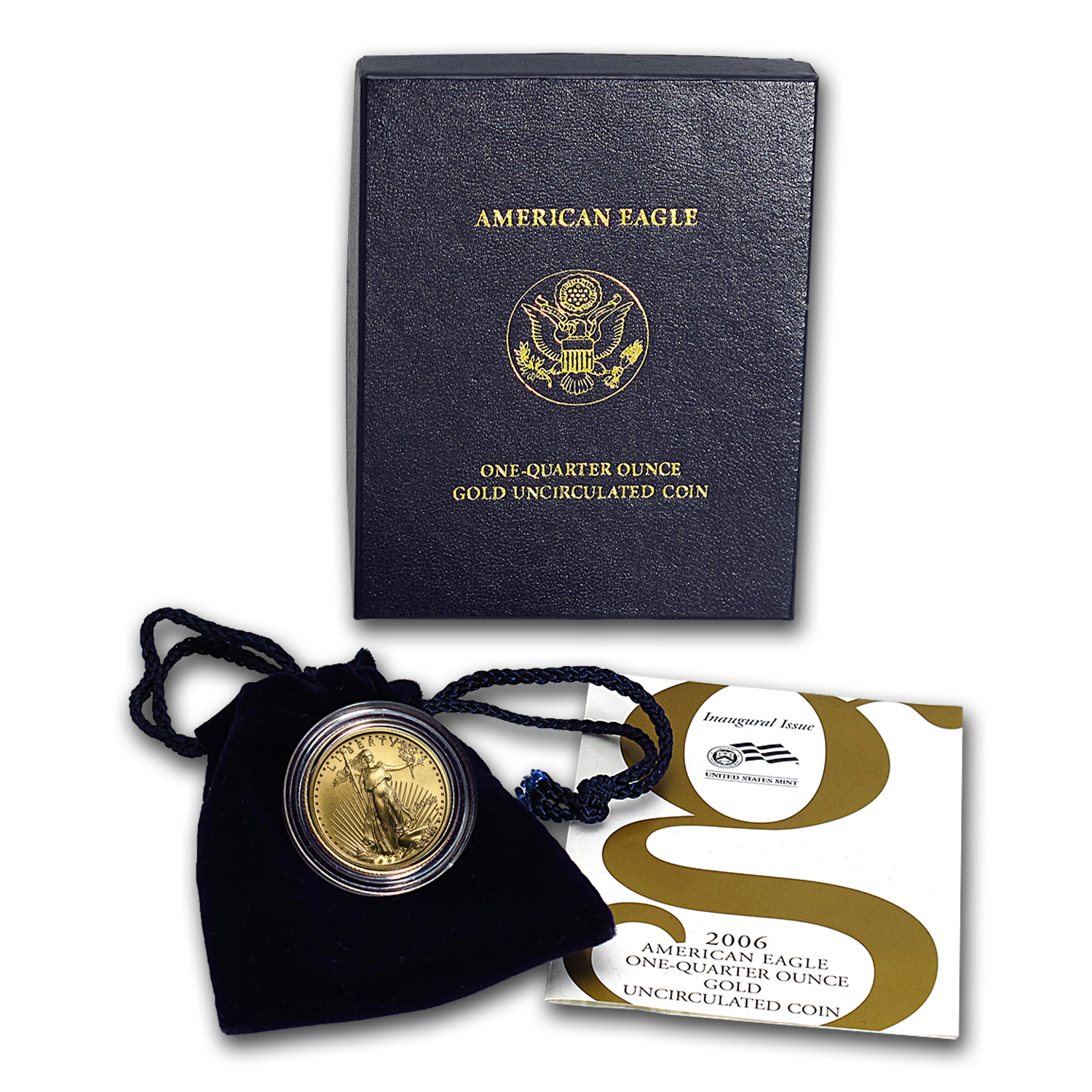 2006-W 1/4 oz Burnished Gold American Eagle (w/Box and COA)