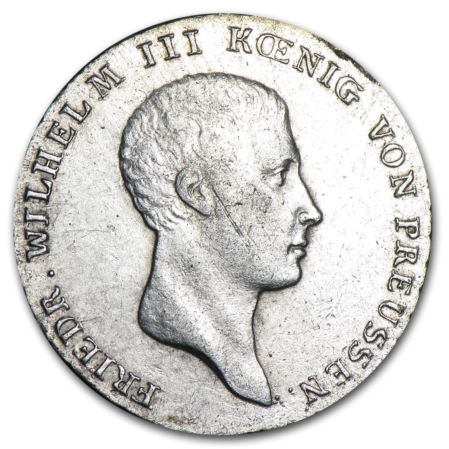 Prussia 1816 A 1/6 Thaler Silver Extra Fine
