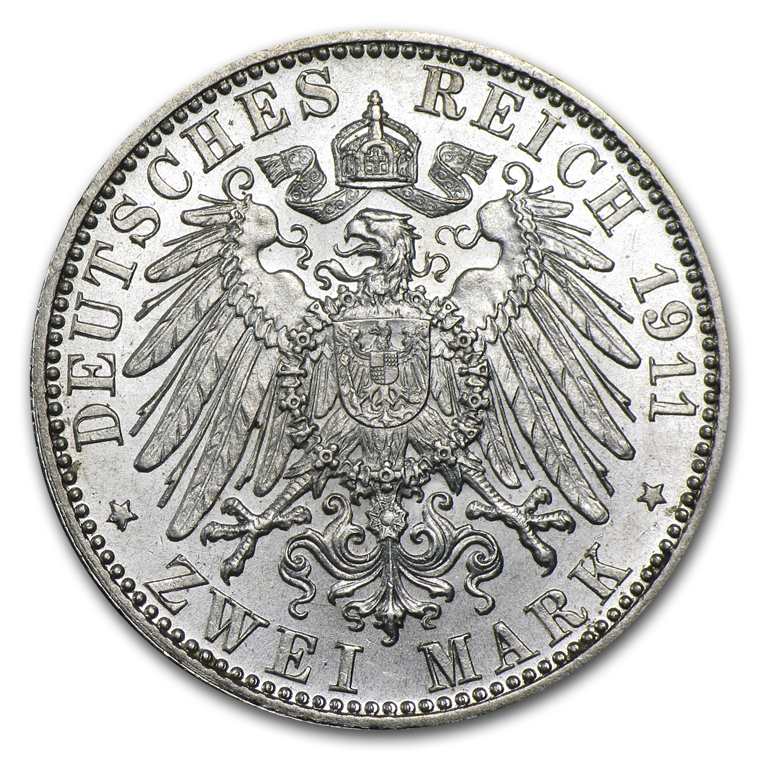 Bavaria 1911 Silver 2 Mark AU