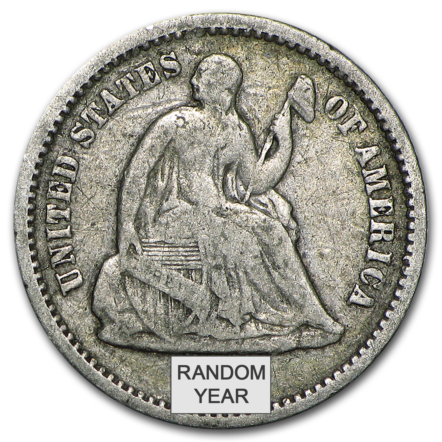 1837-1891 Liberty Seated Half Dimes (Average Circulated)