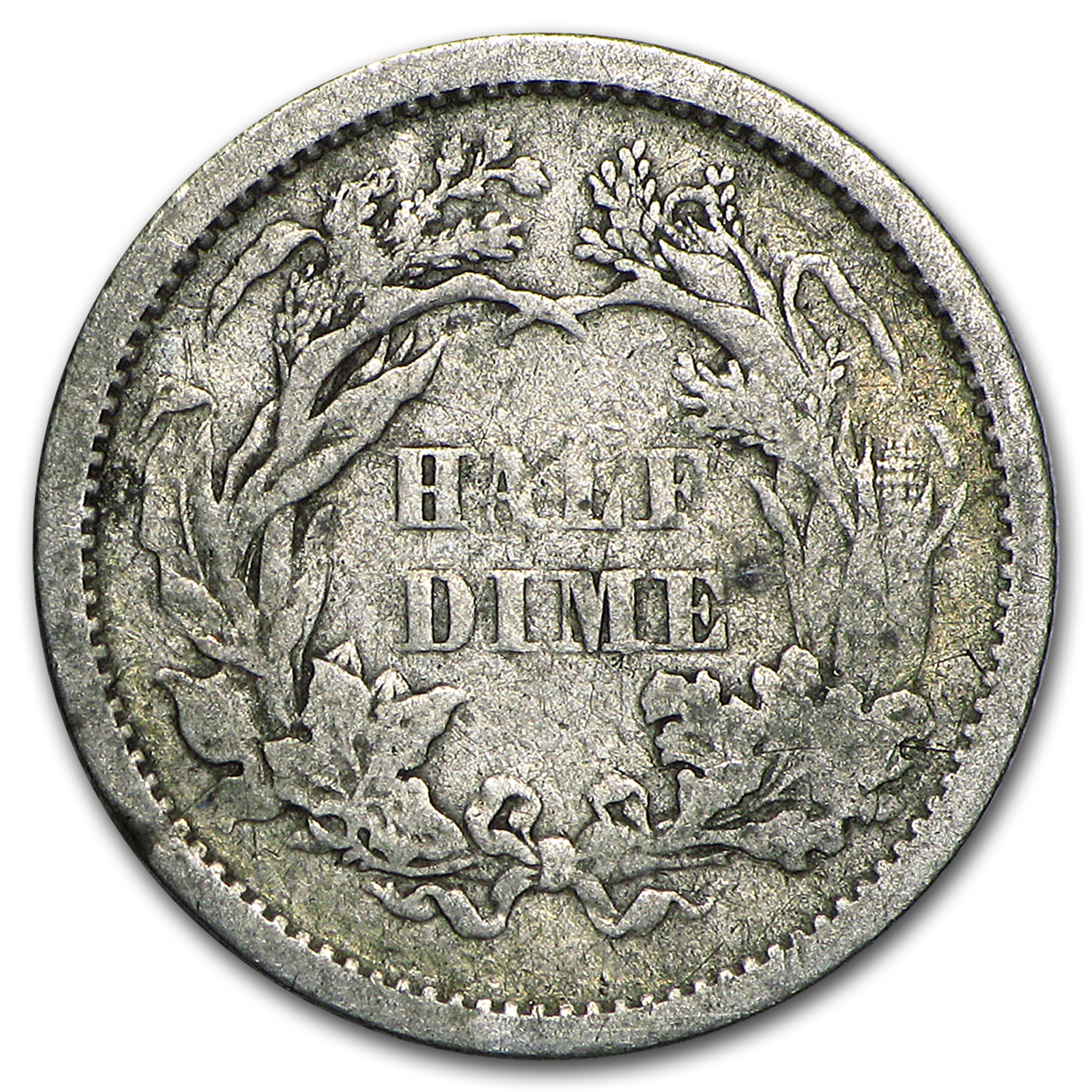 1837-1873 Liberty Seated Half Dimes Avg Circ