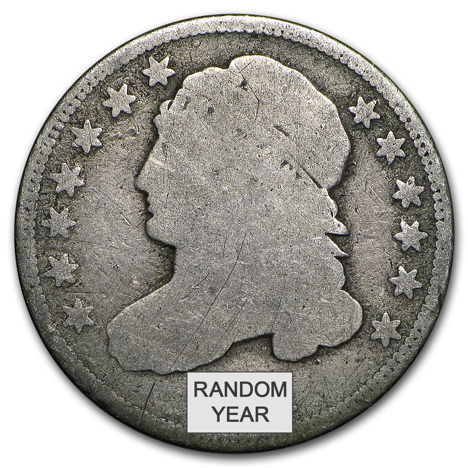 1809-1837 Capped Bust Dimes Avg Circ