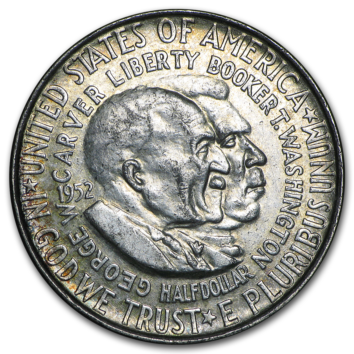 1951-54 P,D, or S Washington-Carver Half (Low Grade/Cleaned)