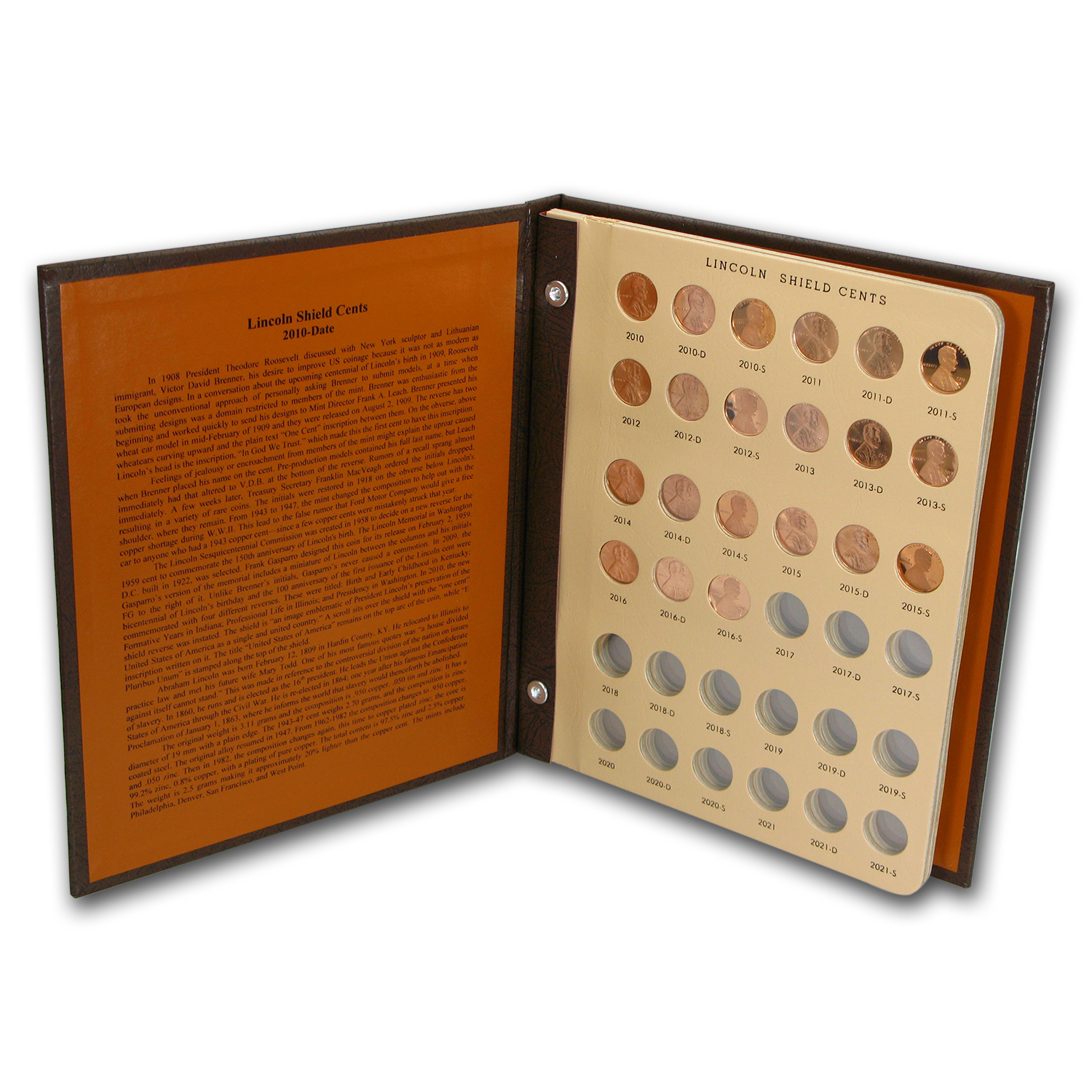 1959-2016-P,D,S Lincoln Cent Collection (Dansco Album)