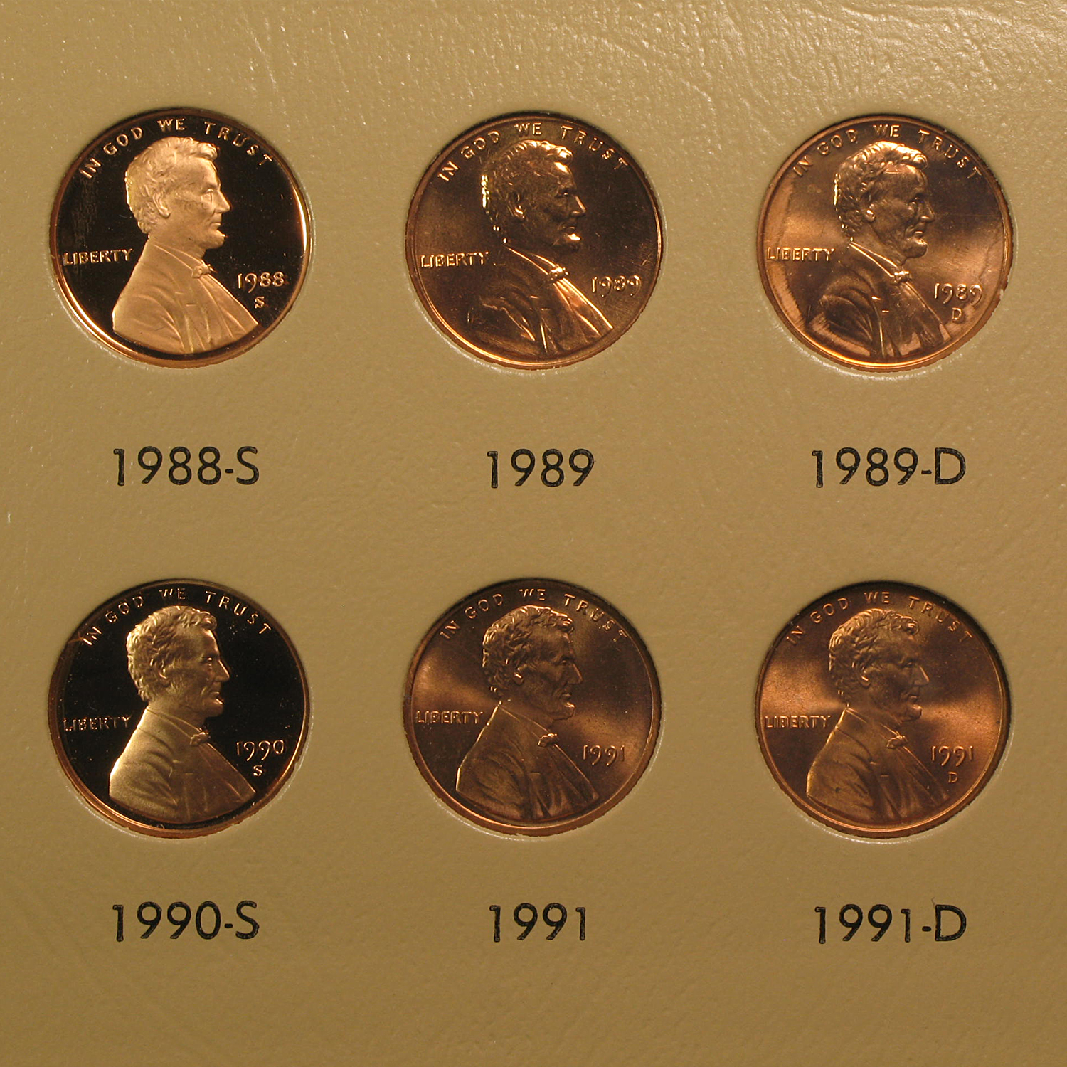 Lincoln Memorial Cent Collection 1959-2013-P,D,S in Dansco Album