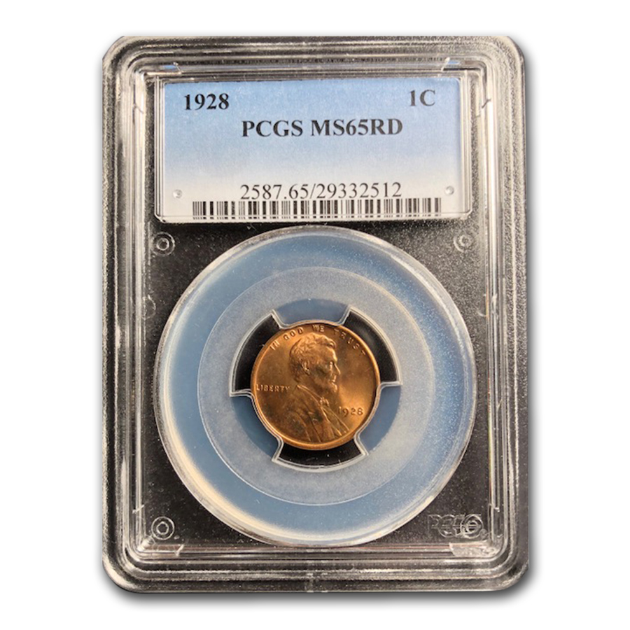 1928 Lincoln Cent MS-65 PCGS (Red)