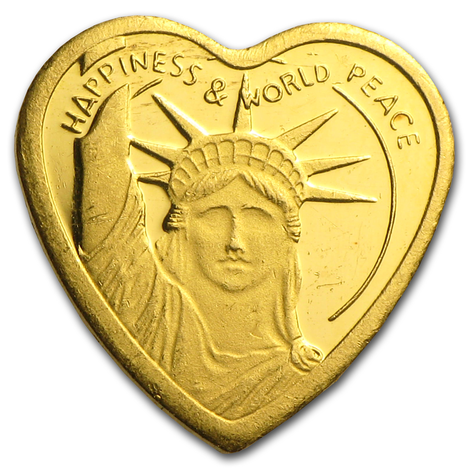 1 gram Gold Bar - Pamp Suisse Heart Design (Scruffy)