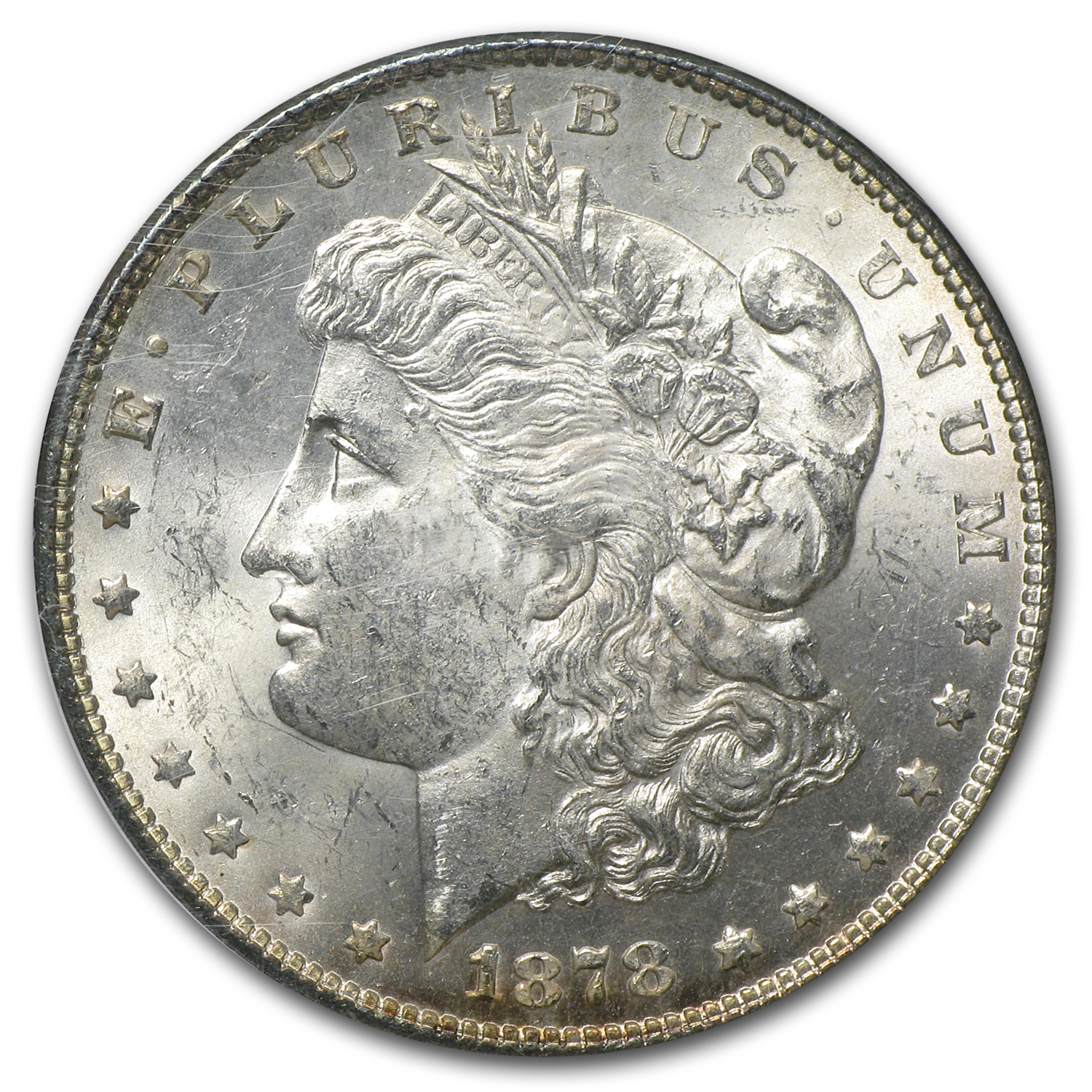 1878 Morgan Dollar -7 TF (Rev of 78) MS-62 NGC VAM-83 Low 8