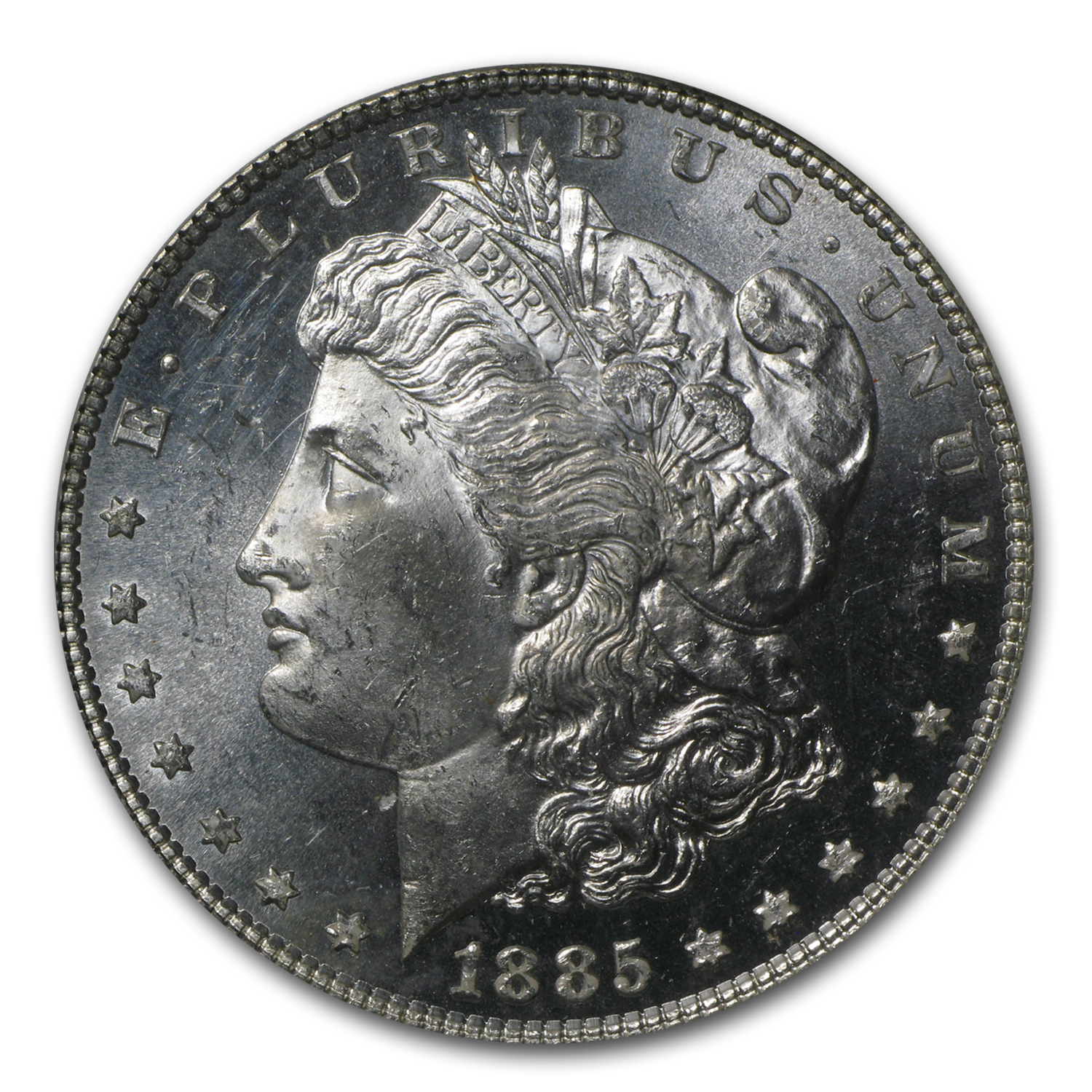 1885 Morgan Dollar MS-64 PL Proof Like PCGS