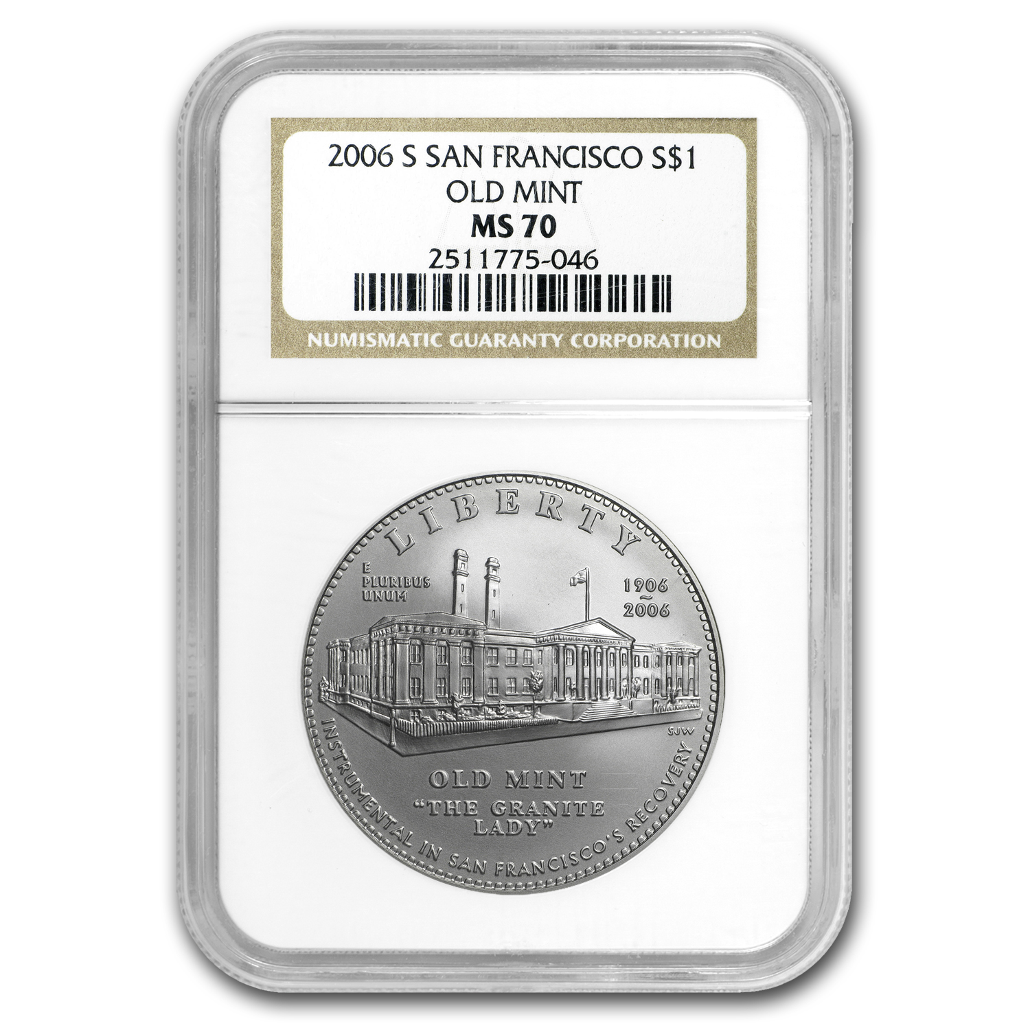 2006-S San Francisco Old Mint $1 Silver Commemorative MS-70 NGC