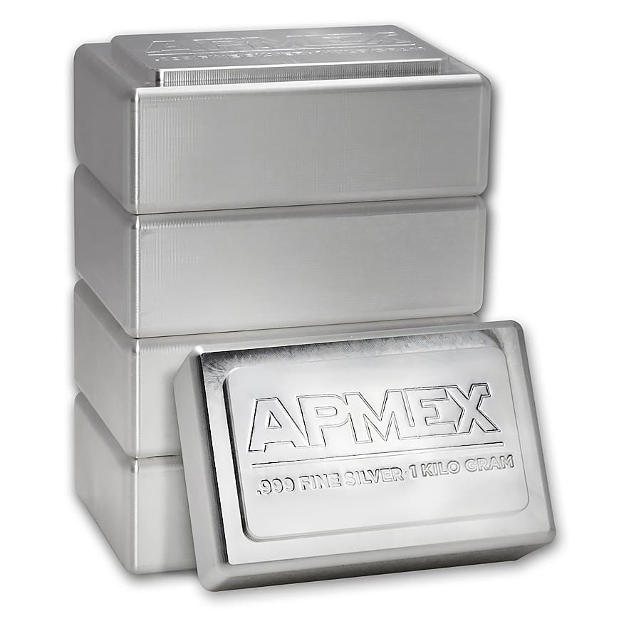 1 kilo Silver Bars - APMEX (Stackable/IRA approved)