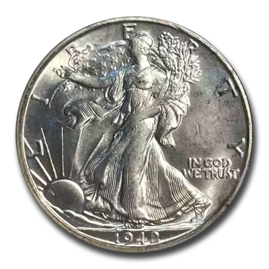 1942-S Walking Liberty Half Dollar MS-65 NGC