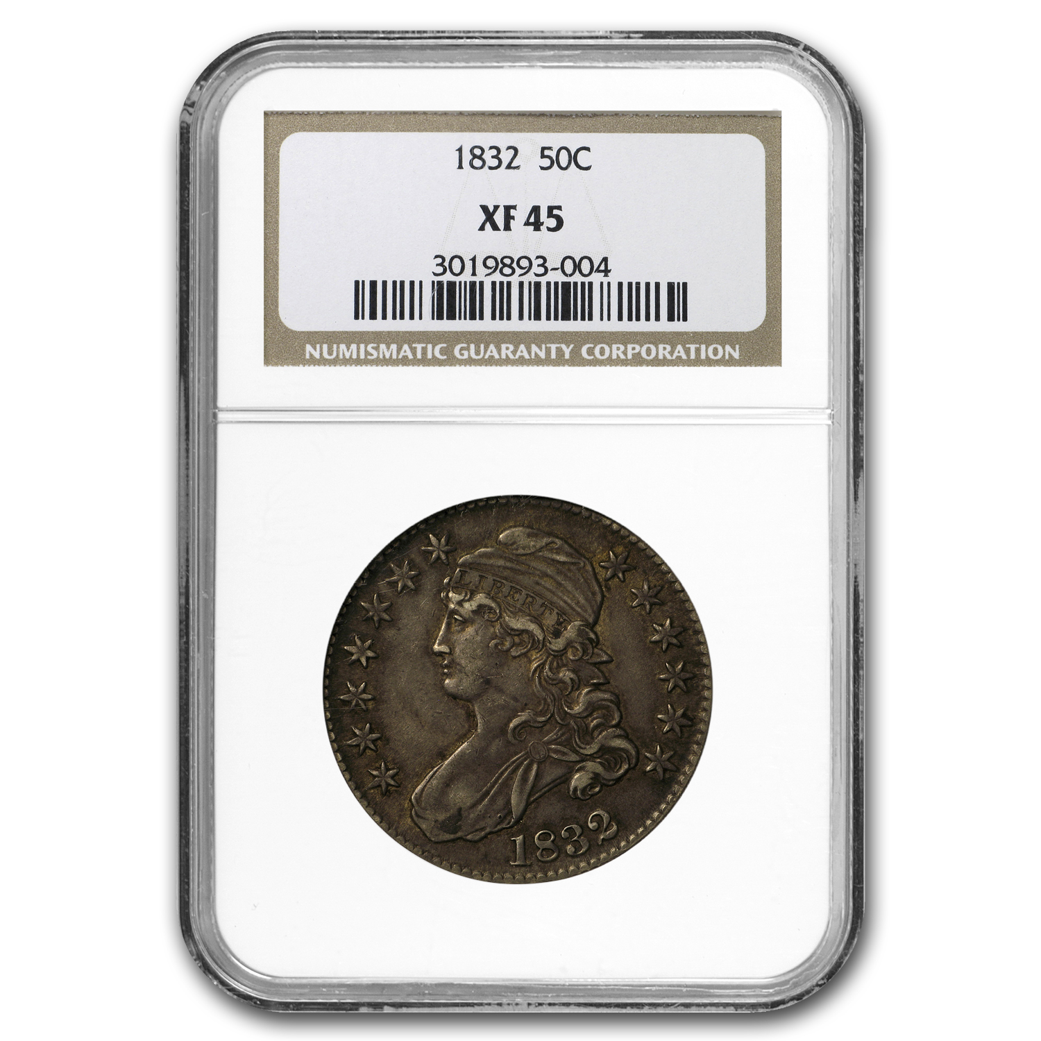 1832 Capped Bust Half Dollar XF-45 NGC