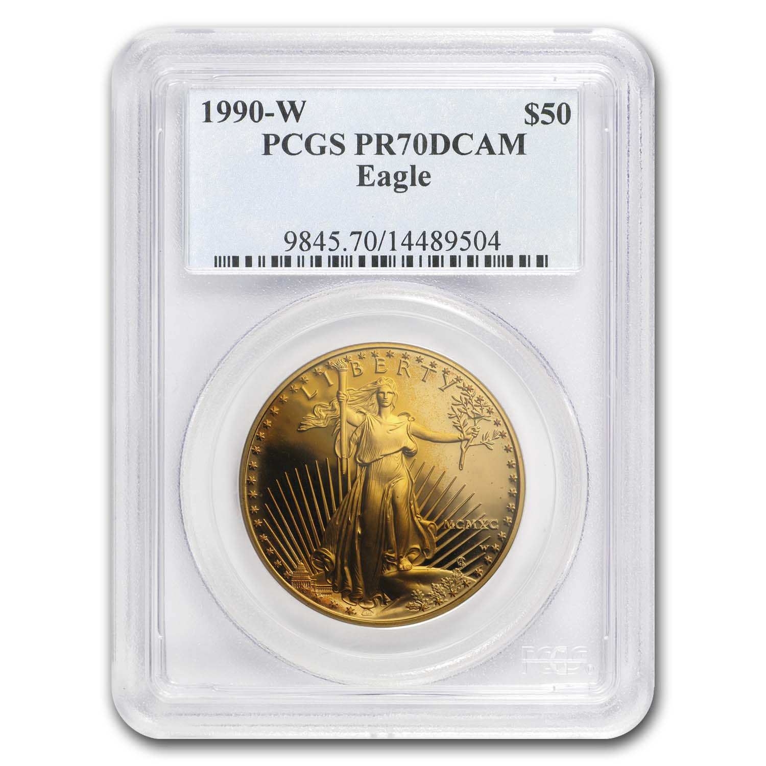 1990-W 1 oz Proof Gold American Eagle PR-70 PCGS (Registry Set)