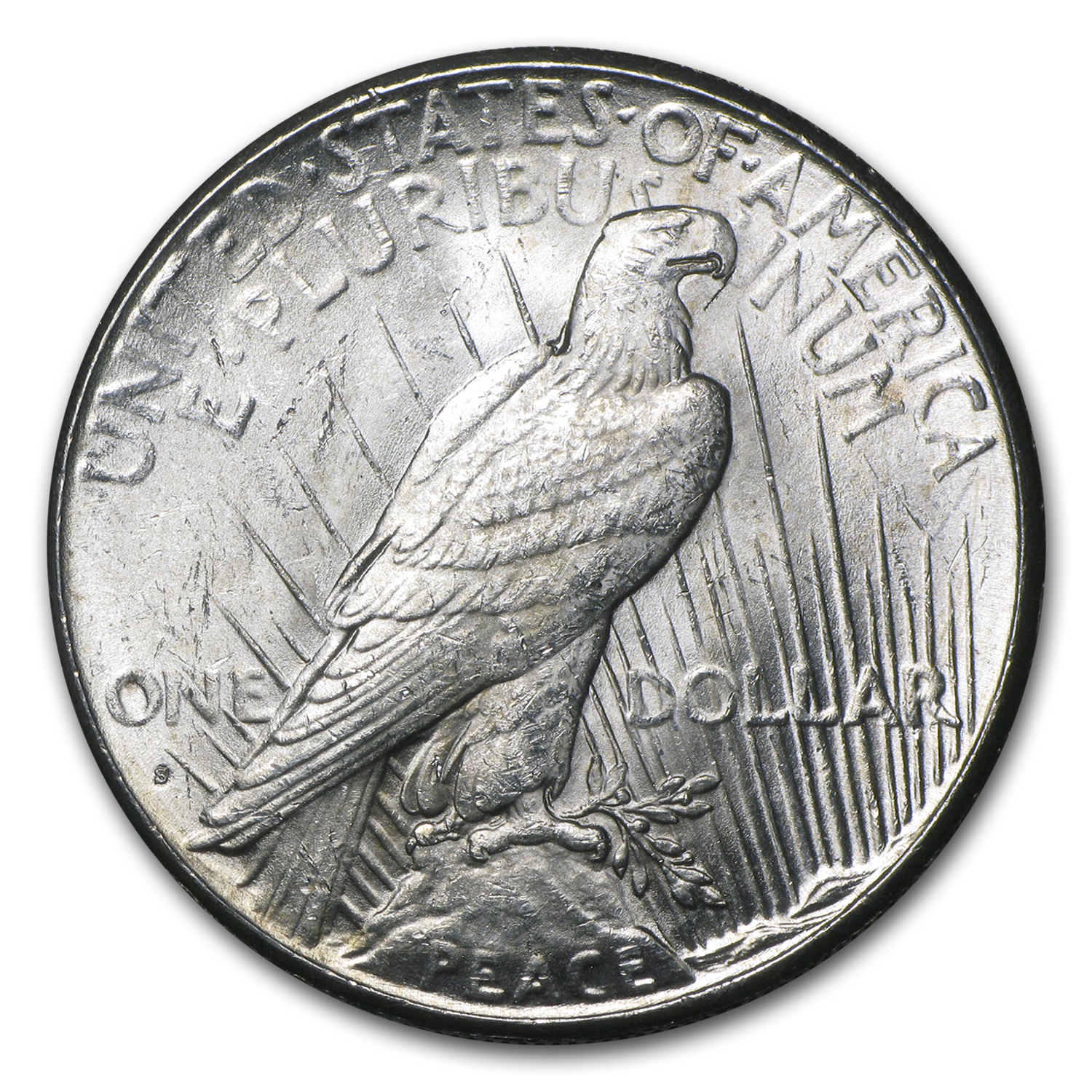 1925-S Peace Dollar - Almost Uncirculated