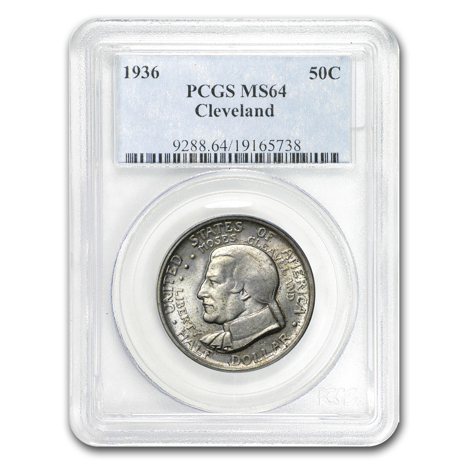1936 Cleveland/Great Lakes Half Dollar MS-64 PCGS