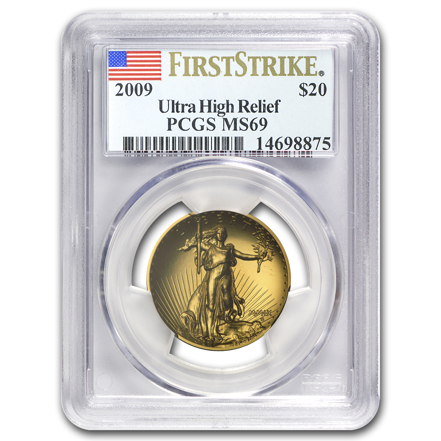 2009 Ultra High Relief Double Eagle MS-69 PCGS (First Strike)