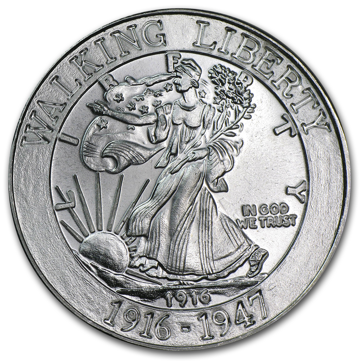 1 oz Silver Rounds - Walking Liberty