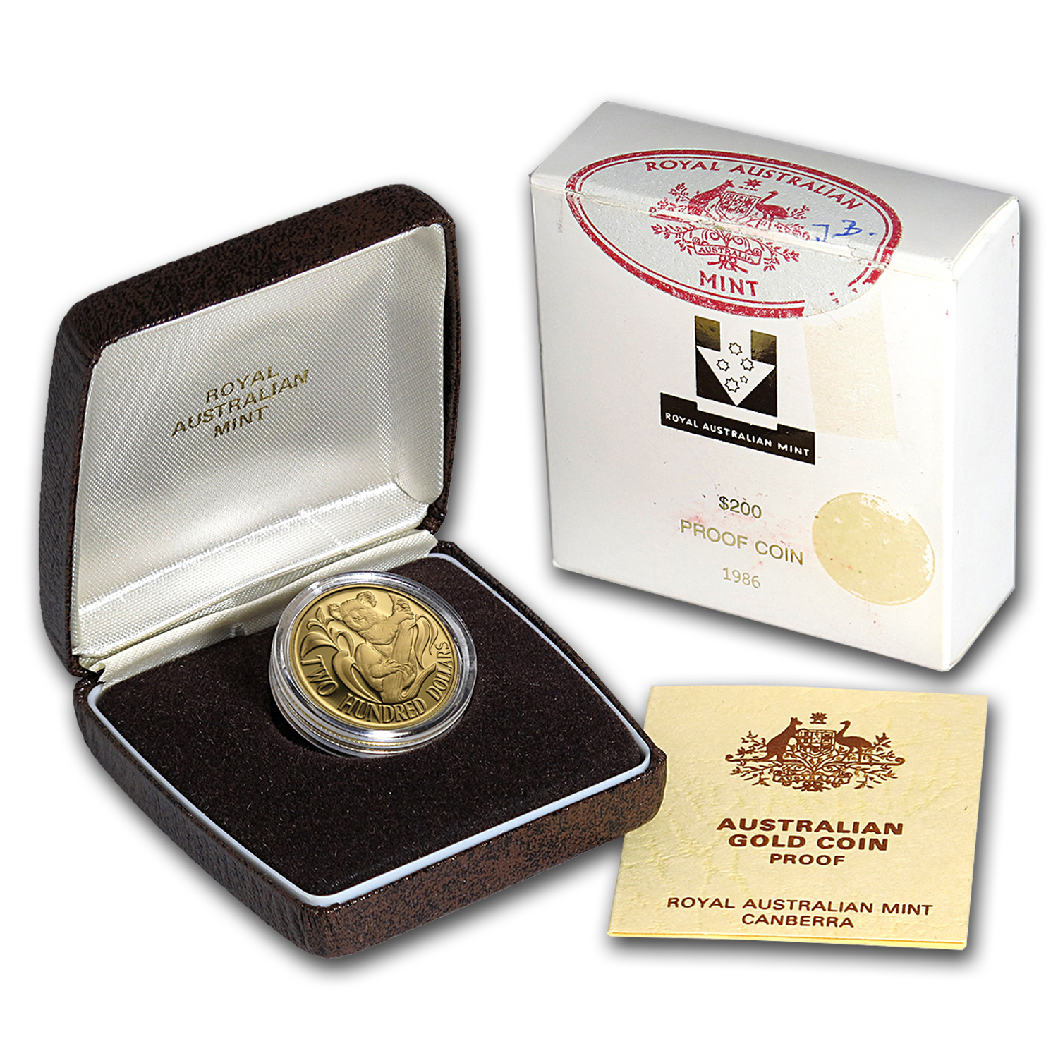 1986 Australia Proof Gold $200