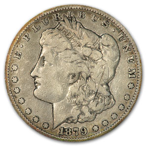 1879-CC Morgan Dollar Clear CC VG Details (Scratched)