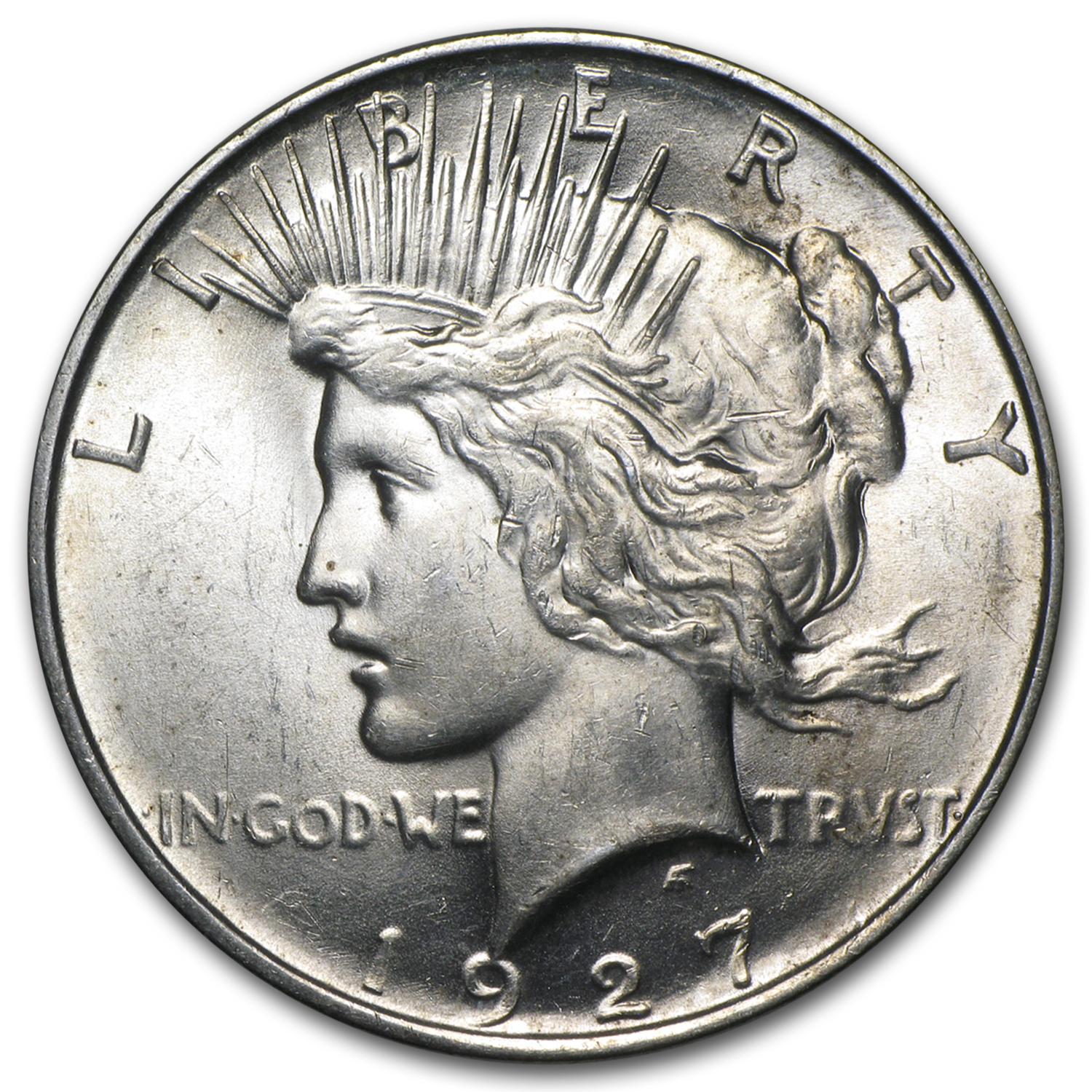 1927-D Peace Dollar - Almost Uncirculated-58