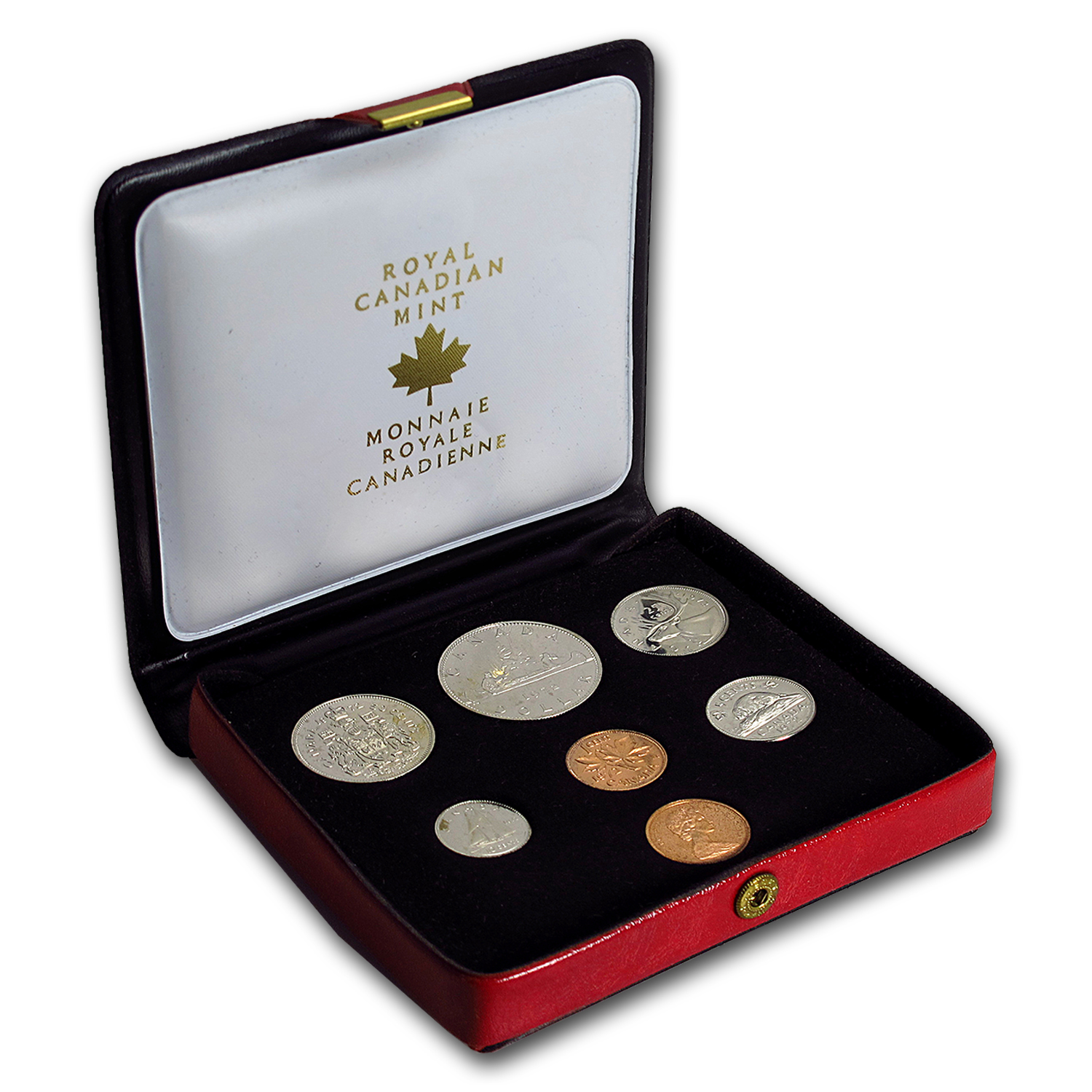 1972 Canada 7 Coin Nickel Custom Set Red Case