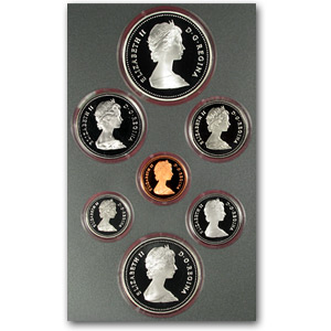 1981 Canada 7 Coin Proof Set Canadian Mint Amp Proof Sets