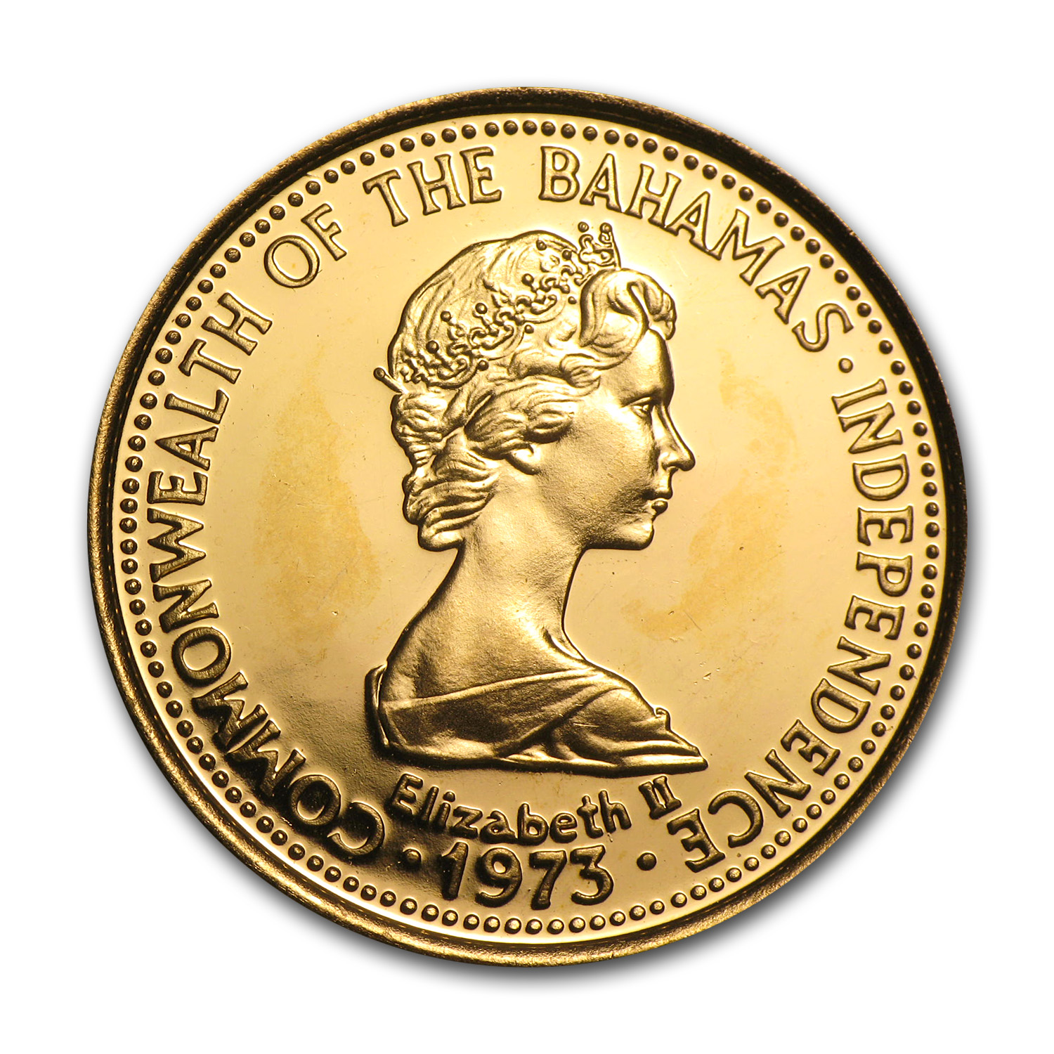 Bahamas 1973-77 150 Dollar Gold Proof/BU Lobster