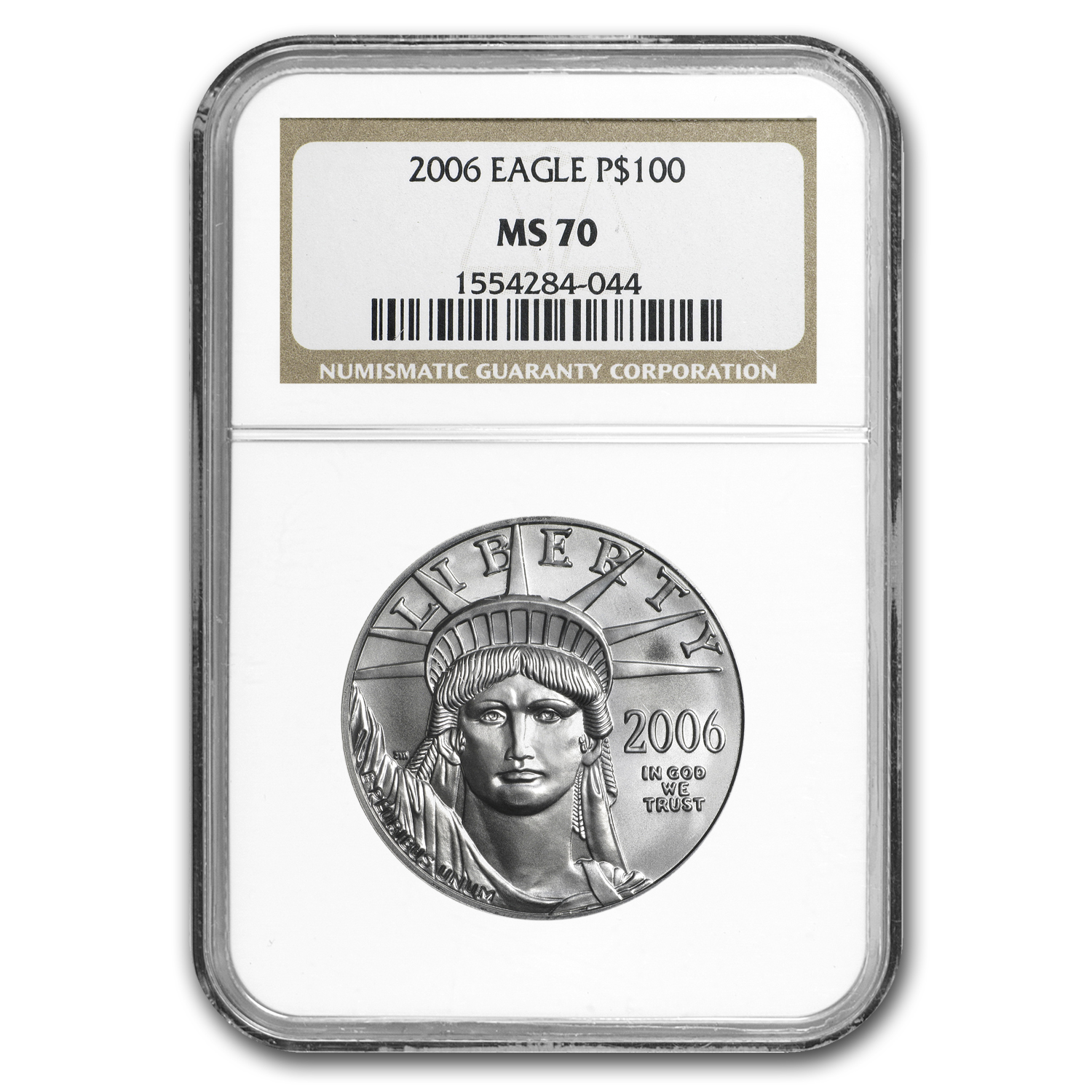 2006 1 oz Platinum American Eagle MS-70 NGC