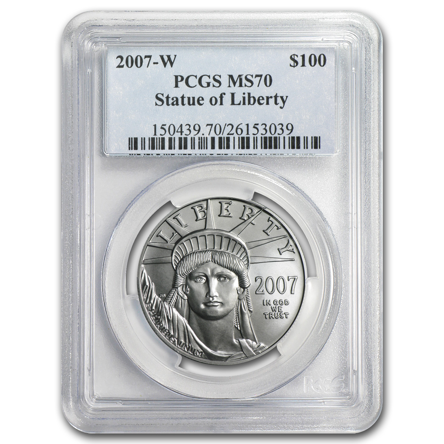 2007-W 1 oz Burnished Platinum American Eagle MS-70 PCGS