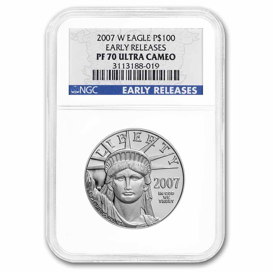 2007-W 1 oz Proof Platinum American Eagle PF-70 NGC (ER)