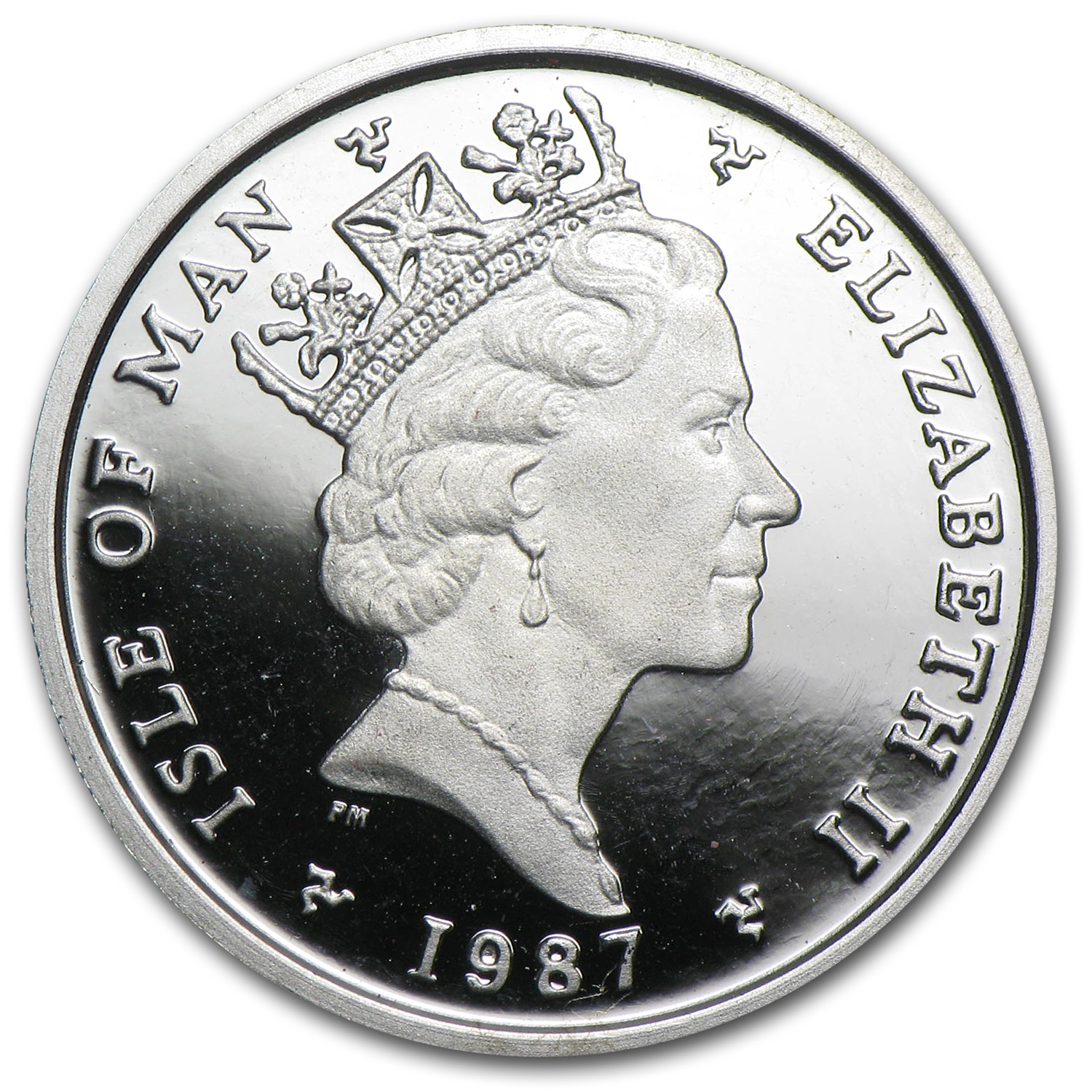 1987 Isle of Man 1/4 oz Proof Platinum Noble (Privy)