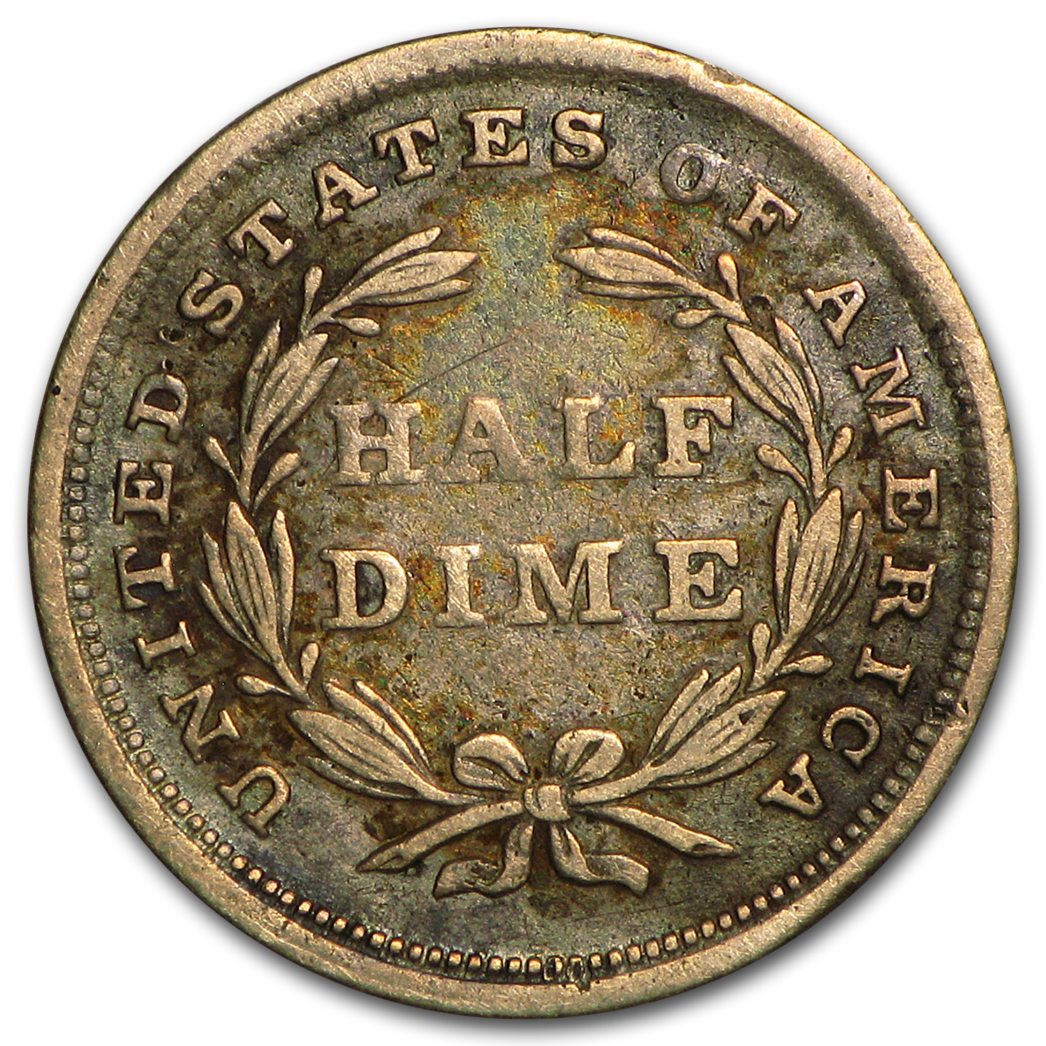 1837 Liberty Seated Half Dime Small Date VF