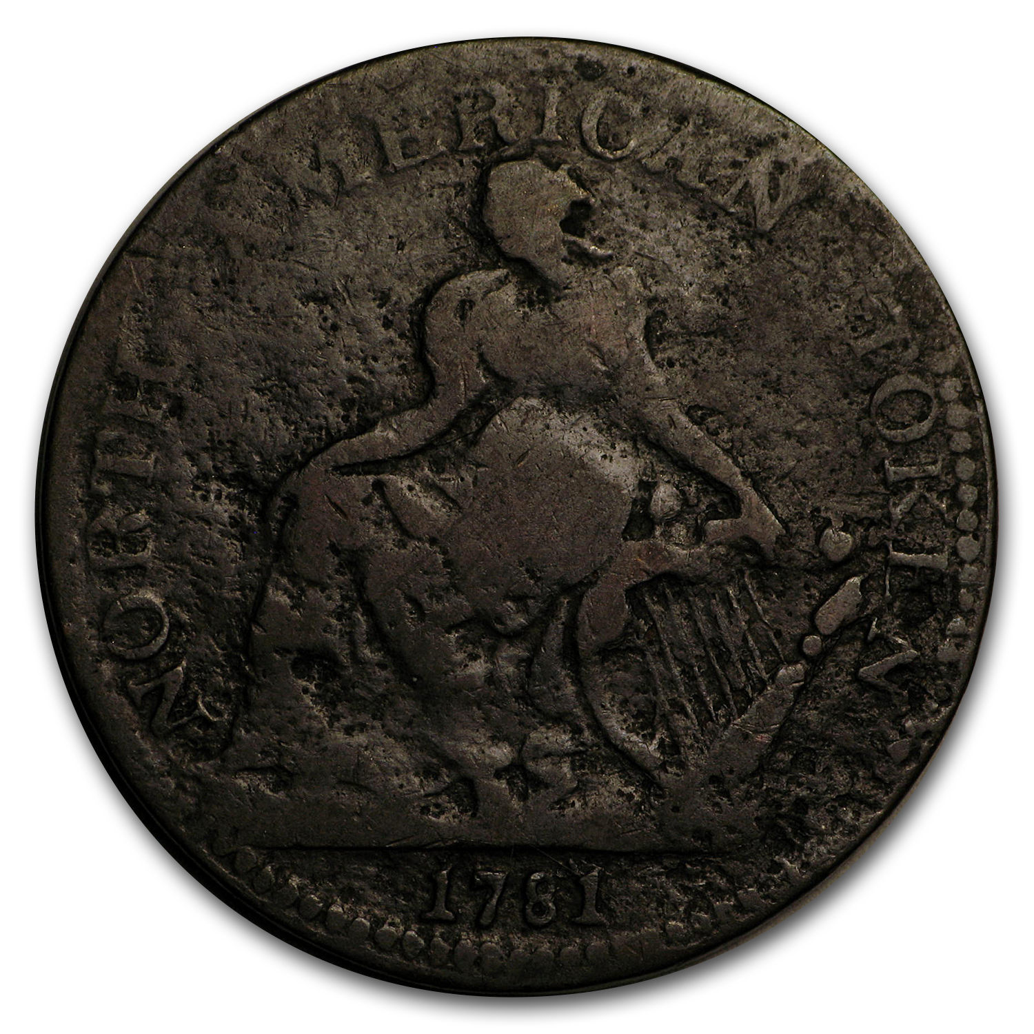 1781 North American Token VG+