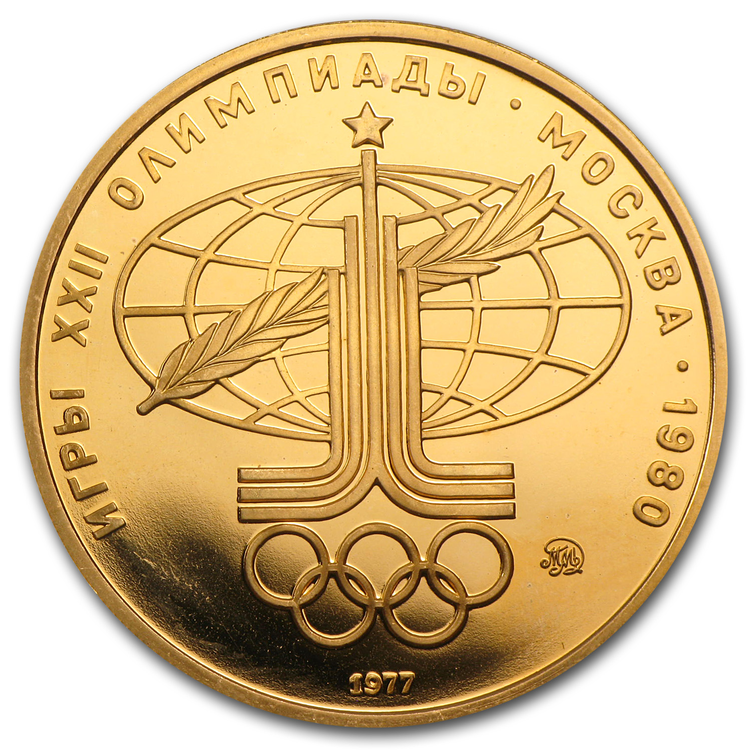 Russia (1977) 1980 Olympic 100 Rouble Gold Proof/Unc