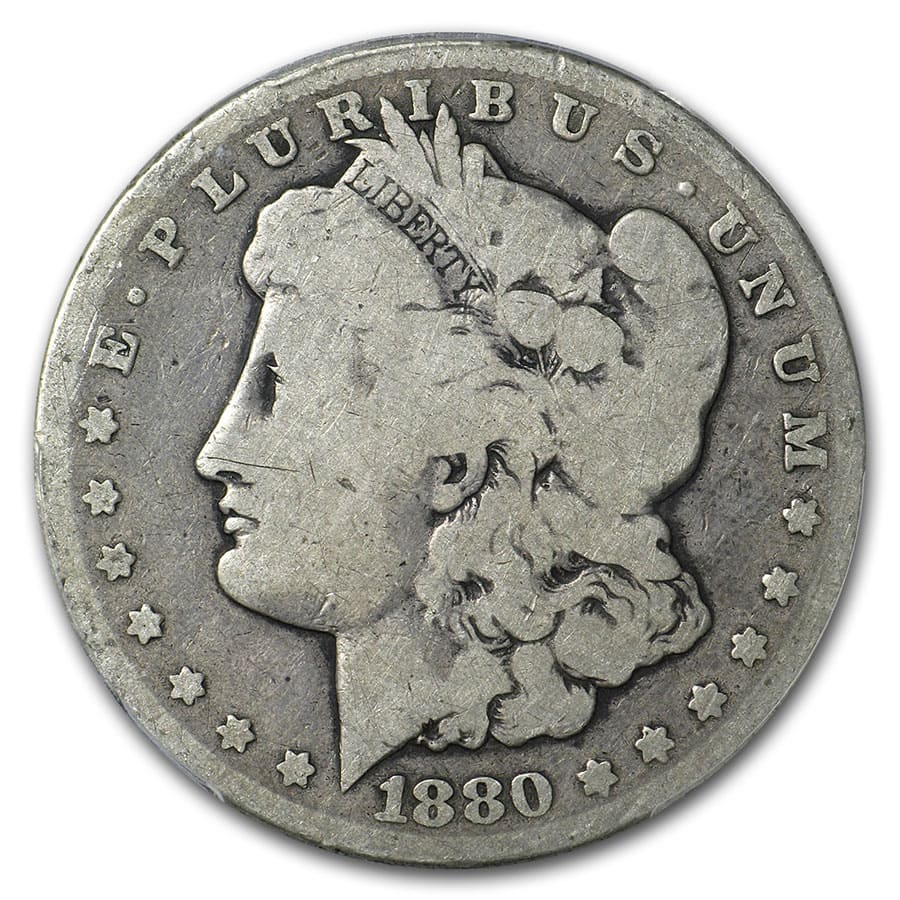 1880-CC Morgan Dollar AG