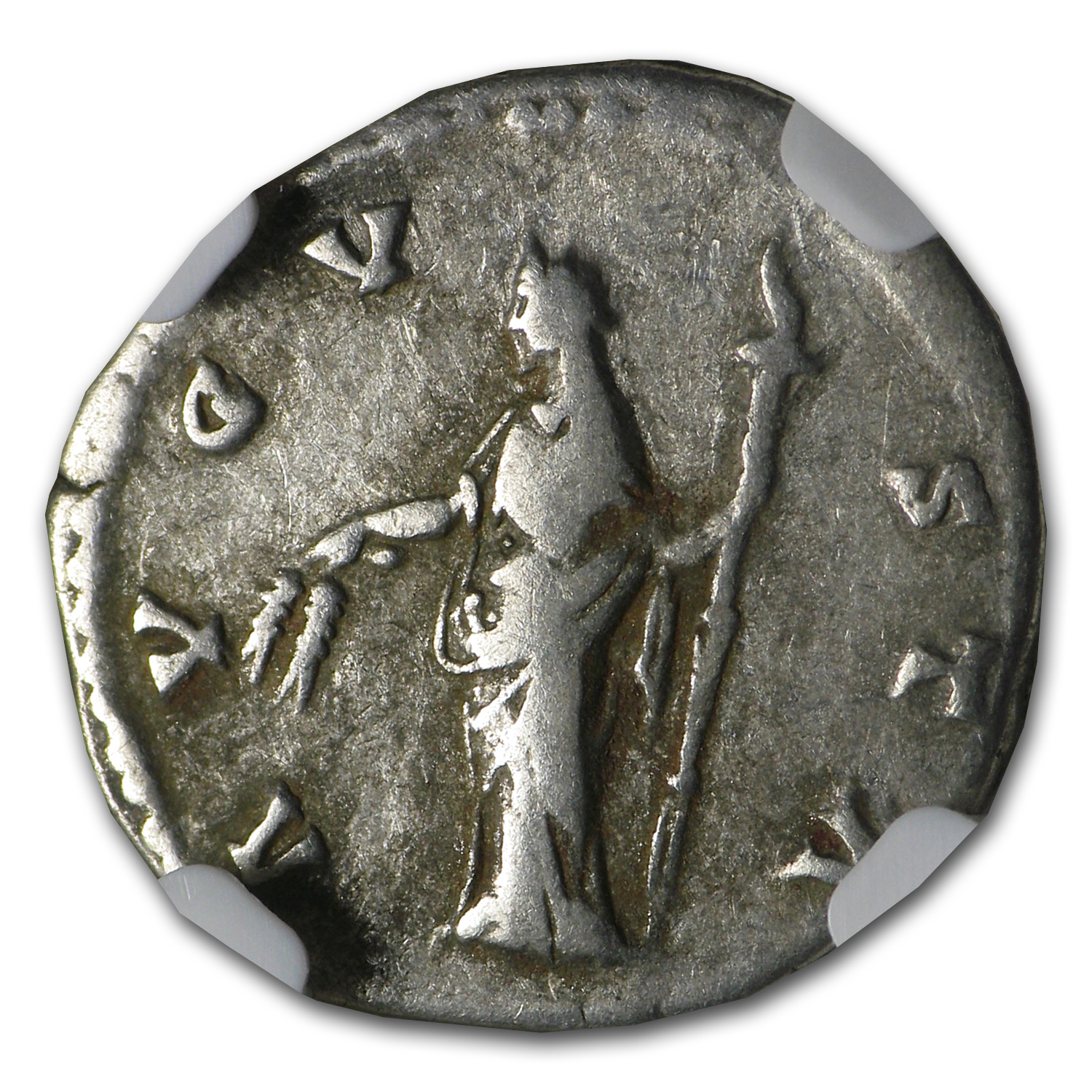 Roman Silver AR Denarius of Faustina Sr. (After 140 AD) NGC VF