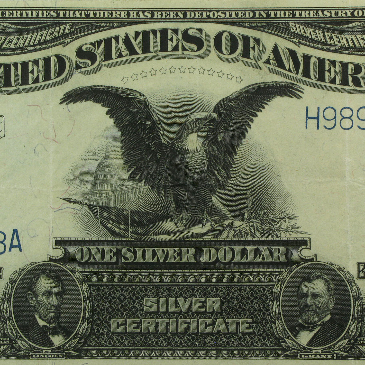 1899 $1.00 Silver Certificate Black Eagle VF+